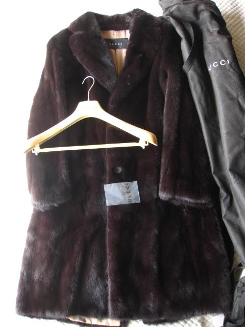 グッチ毛皮コート